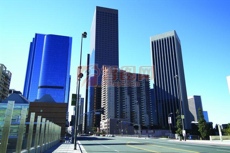 藍色高樓建筑