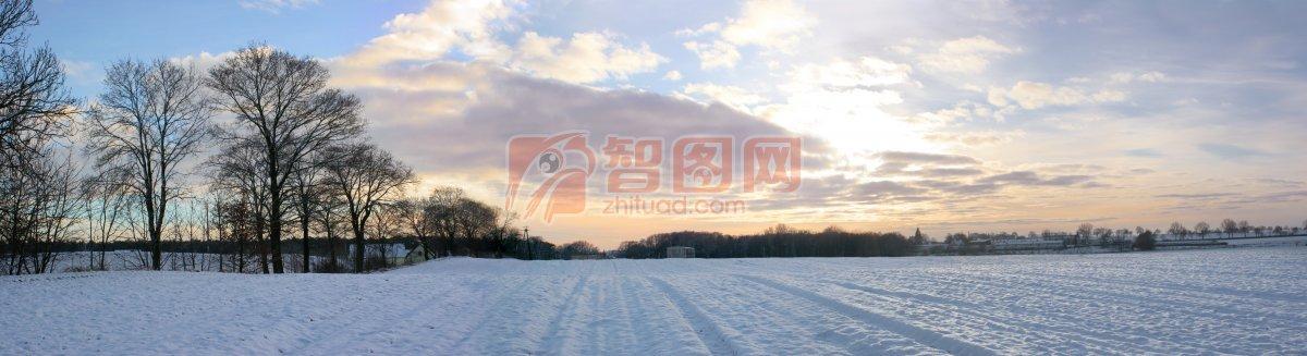 雪景攝影元素