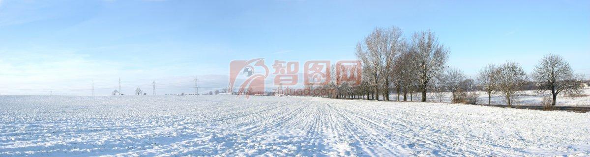 雪景攝影素材