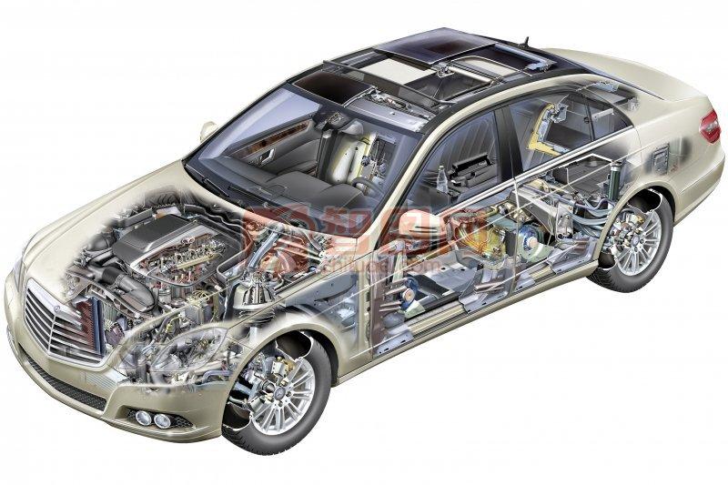 轎車構造攝影