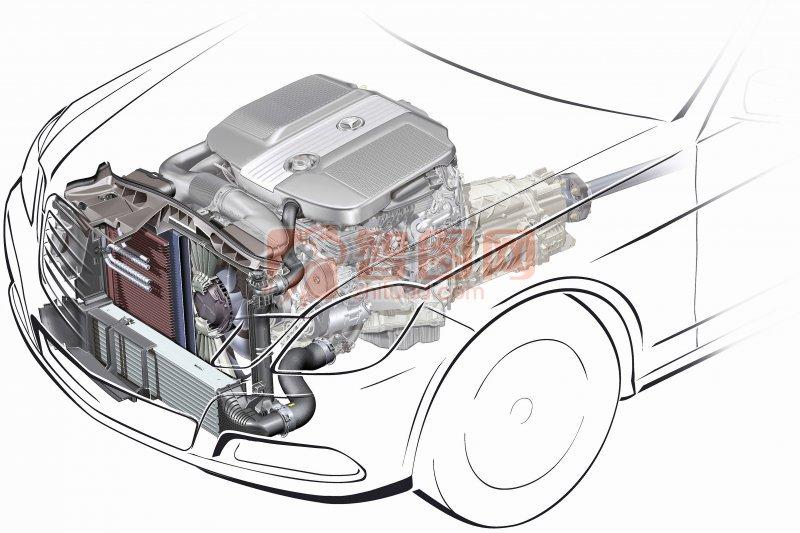 轎車發動機攝影元素