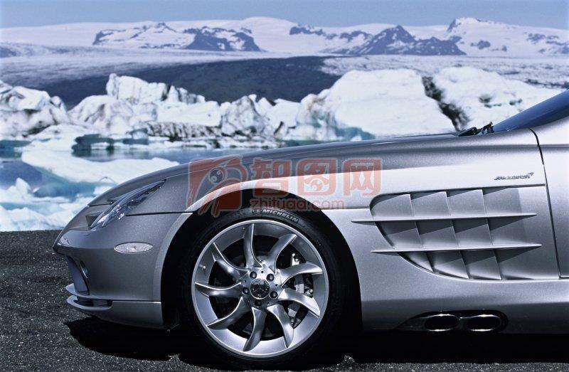 銀色轎車攝影元素