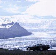 黑色轎車海邊攝影