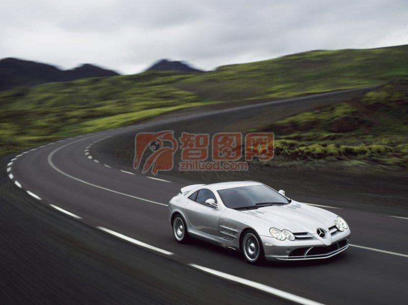 白色轎車元素攝影