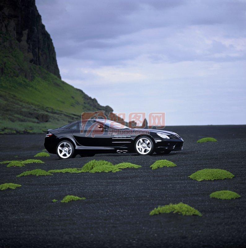 黑色轎車素材