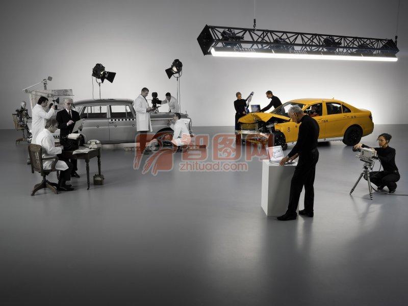 轎車制造攝影元素
