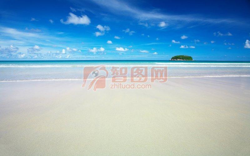 蓝色天空 海景摄影素材 说明:-海景元素 上一张图片:  江水摄影