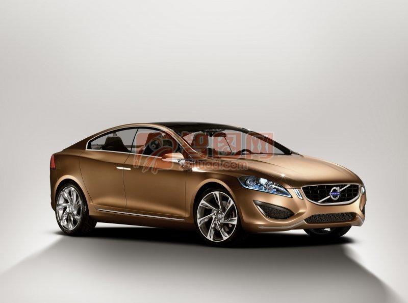 S60概念車棕色車身海報設計