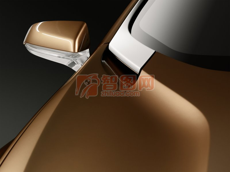 S60概念車棕色車身攝影