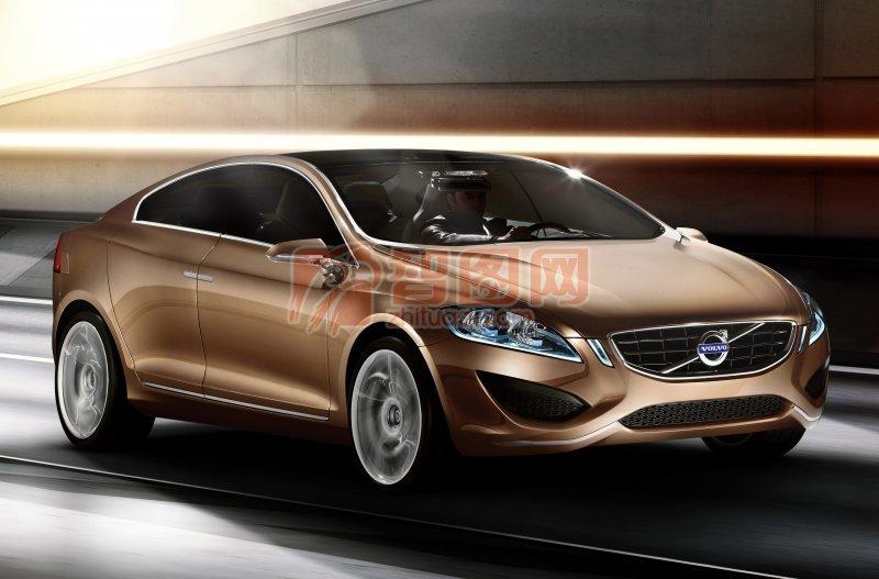 S60概念車棕色車型攝影元素