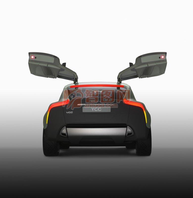 汽車尾部攝影元素