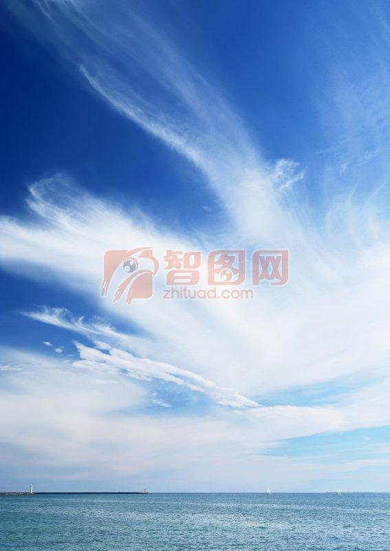 天空背景海洋元素