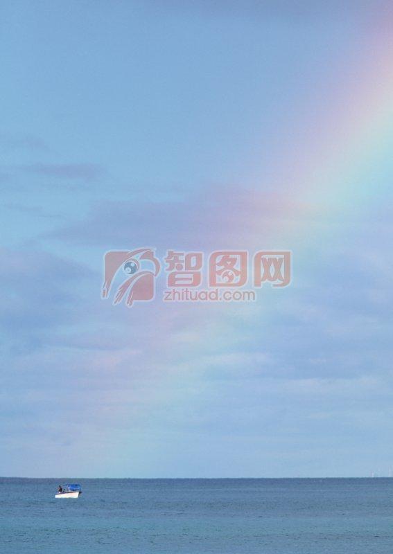 淺藍色海景
