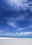 藍色天空背景海洋元素