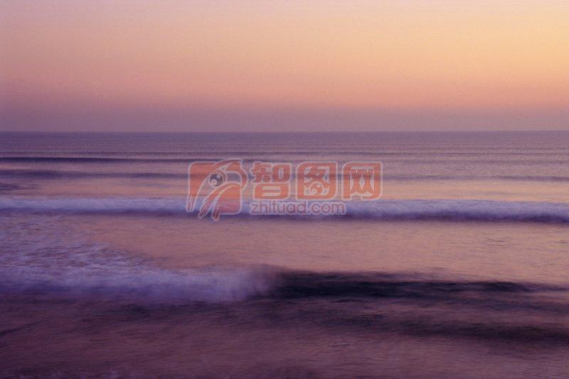 淡紫色海景元素