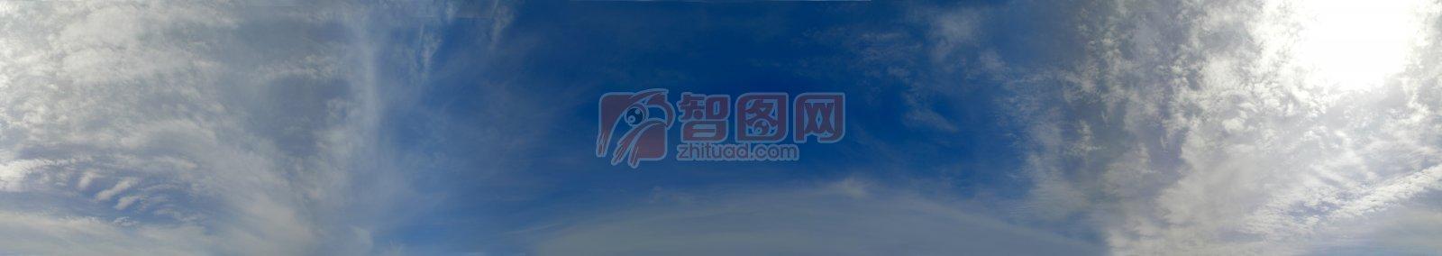 藍色天空云層素材