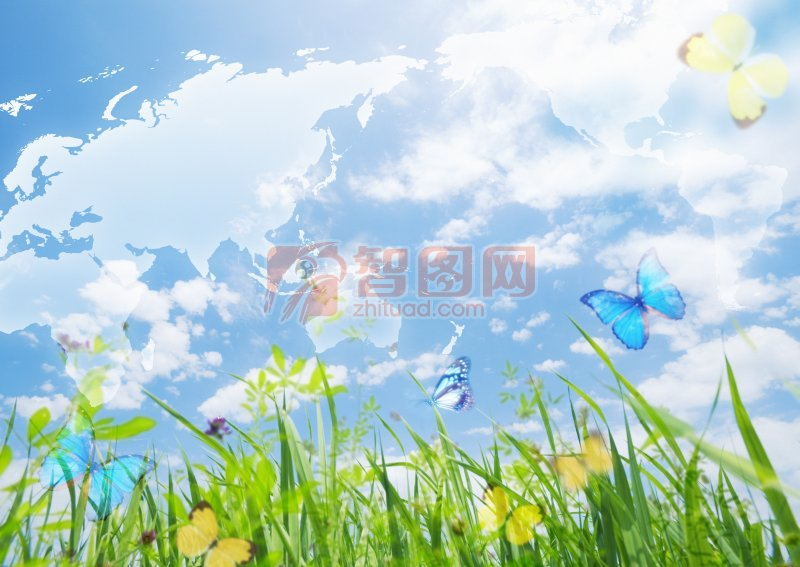 藍色天空攝影元素
