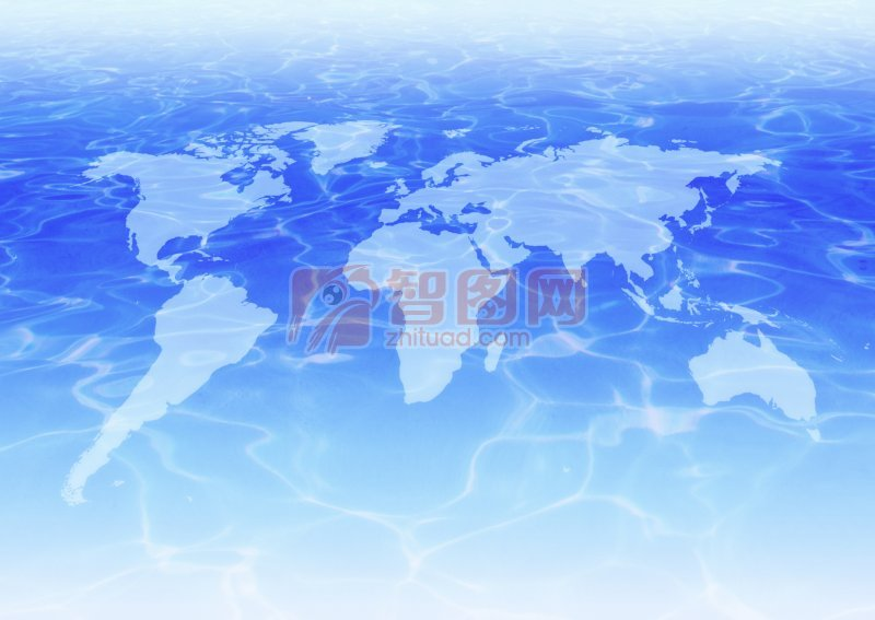藍色自然圖案