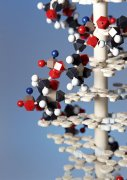 深藍色分子結構元素