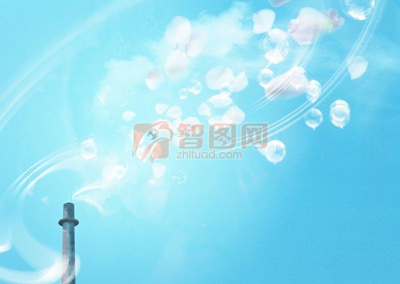 藍天白云風景