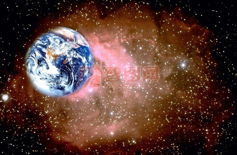 棕色背景地球元素