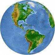 水墨藍地球模型