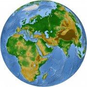 藍綠相間地球模型