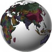 彩色地球模型