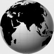 黑色地球板塊