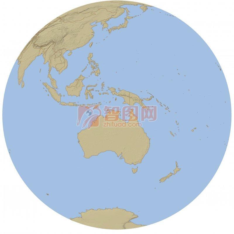 淺藍色素材世界地圖