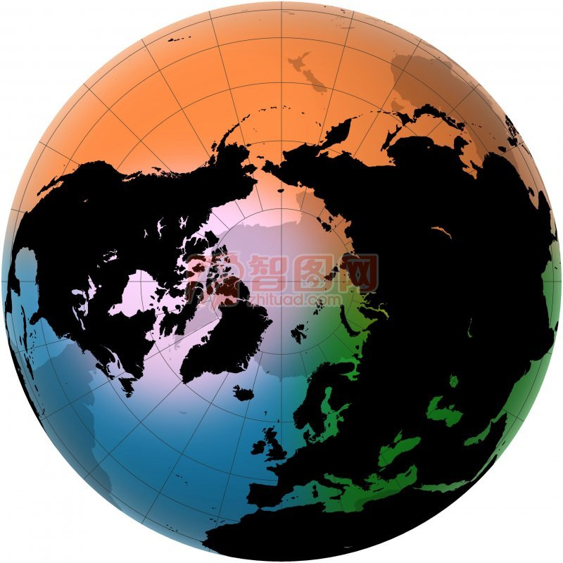 彩色素材世界地圖