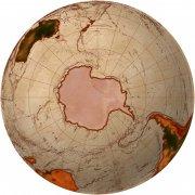 棕色世界地圖