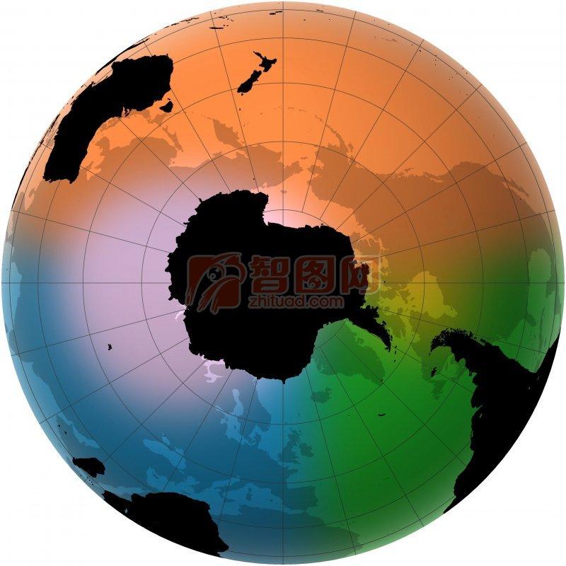 彩色世界地圖