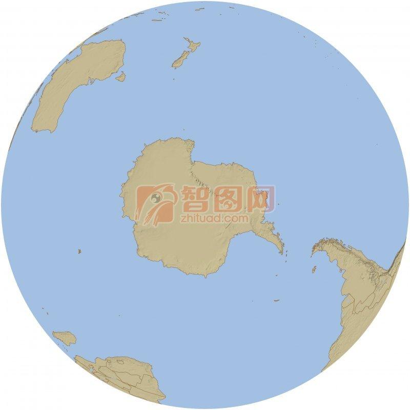 白色背景圓形世界地圖