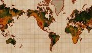 淺棕色背景世界地圖