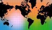 彩色背景世界地圖