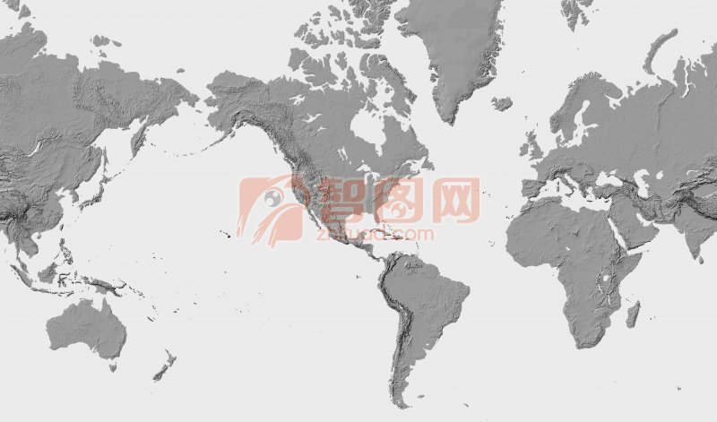 灰色背景世界地圖攝影