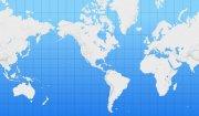 藍色背景世界地圖元素