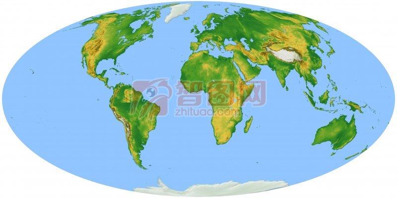 白色背景世界地圖