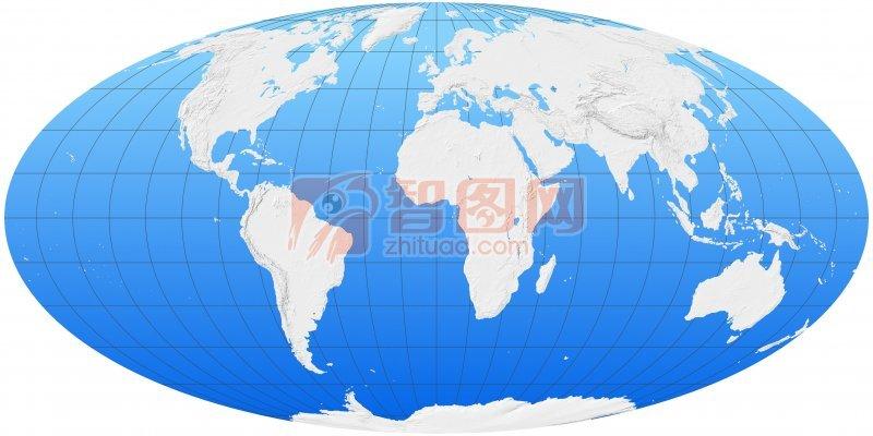 藍色素材世界地圖