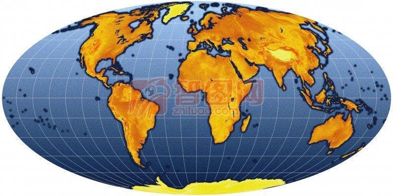 关键词: 高清世界地图 白色背景 深蓝色素材 黄色板块 世界地图摄影