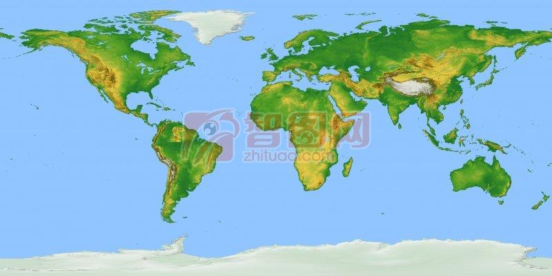 手绘五大洲地图