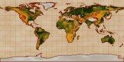 棕色背景世界地圖