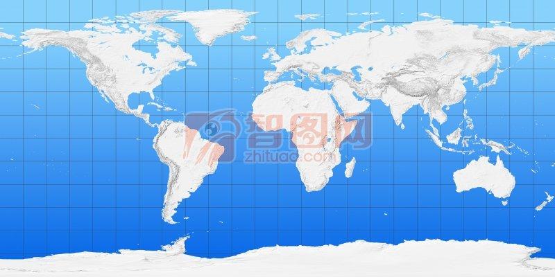 五大洲藍色背景板塊攝影