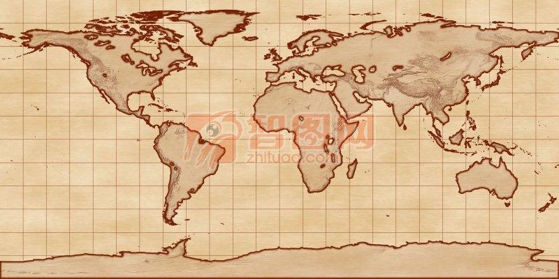 五大洲版圖
