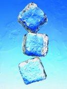藍色背景冰塊元素