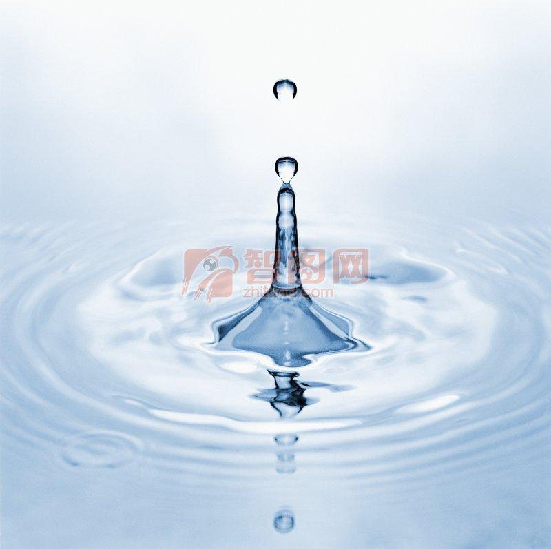 淺藍色水滴攝影