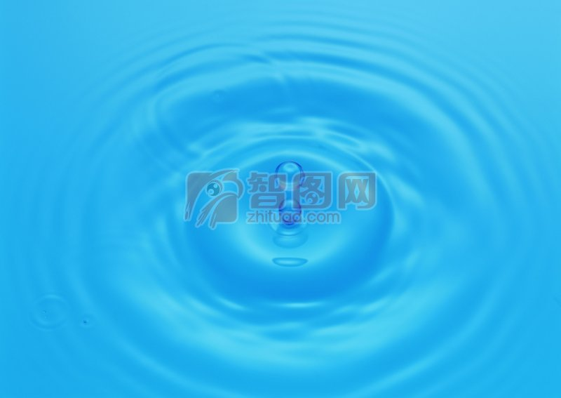 水滴濺起的漣漪