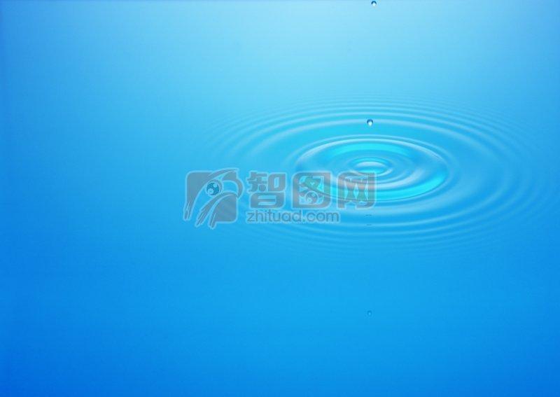 天藍色背景水波素材