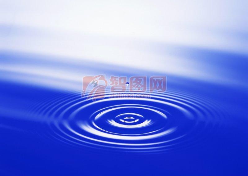 藍色背景水波元素